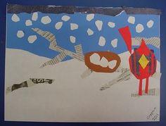 Charley Harper bird collage lesson, 3rd through 5th grade