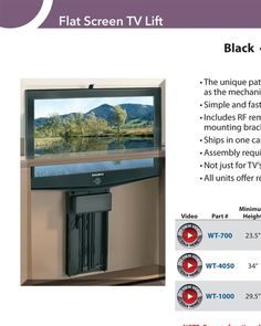 Flat Screen TV Lifts By Outwater | Simple + Sturdy & Quick - Outwater - Master Catalog - page F-14
