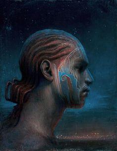 Agostino Arrivabene – boy with blue glyphs