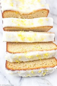 This moist and dense pound cake is bursting with lemon flavor! It's gluten-free, grain-free, paleo and naturally-sweetened, too.