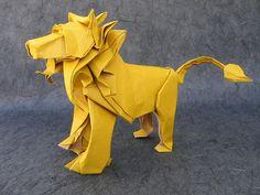 Origami Lion +instructions. 129 steps ;)  León de Origami +instrucciones. 129 pasos ;)
