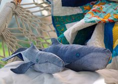 Save the Jeans and Make Whales | Dotcoms for Moms - You send in your old jeans and they make whales!! So awesome!