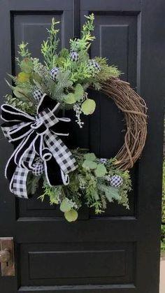 Twig Wreath, Greenery Wreath, Autumn Wreaths, Holiday Wreaths, Memorial Day Wreaths, Outdoor Wreaths, Deco Mesh Wreaths, Summer Wreath, Rustic Christmas