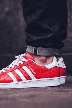 adidas Originals Superstar Animal: Red/White/Gold