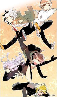 Danganronpa Funny, Danganronpa Characters, Super Danganronpa, Rpg Maker, Makoto Naegi, Byakuya Togami, Nagito Komaeda, Trigger Happy Havoc, Anime Art Girl