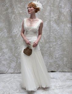 Creme Vintage Lace Inspired Wedding Dress