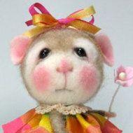 Vestita di feltratura ago Mouse/Bunny classe per di barby303