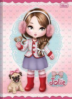 Jolie - Tilibra Mais New Girl, Girl And Dog, Adorable Petite Fille, Scrapbooking Album, Decoupage Vintage, Cute Clipart, Cute Owl, Doll Face, Big Eyes