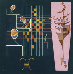 Les Trois Ovales (1942); by Wassily Kandinsky