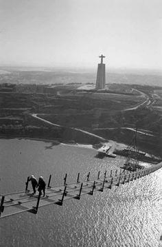 Construção da Ponte sobre o Tejo, Lisboa