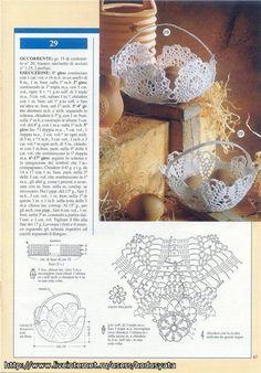 "Photo from album ""Prestigio collana: Bomboniere Inamidate - on Yandex. Crochet Vase, Crochet Pouch, Thread Crochet, Crochet Motif, Crochet Designs, Crochet Crafts, Crochet Doilies, Crochet Stitches, Crochet Patterns"