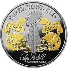 Super Bowl 44 collector flip coin. I ordered mine right after the NFC championship. Of course I had to dig into my pockets again for the Super Bowl Champs coin. I was happy to do it too.