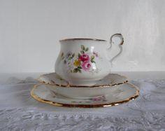 Vintage trio tea cup set