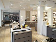 Light Architecture, Architecture Design, Retail Interior, Cosmetics, Lighting, Kitchen, Table, Inspiration, Furniture