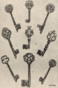 skeleton key and lock tattoo - Google Search