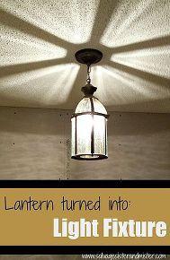 diy goodwill lantern turned into a light fixture, diy, lighting, repurposing upcycling