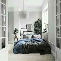Schlafzimmer einrichten grau - Kleiner Raum als Schlafzimmer - inspiration für moderne und zeitlose Einrichtung.