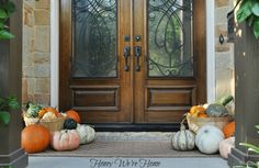 Fall Porch with pumpkin