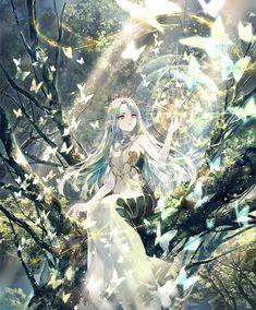 Eclat des esprits Anime Angel Girl, Manga Anime Girl, Cool Anime Girl, Pretty Anime Girl, Beautiful Anime Girl, Queen Anime, Anime Princess, Anime Art Fantasy, Fantasy Artwork