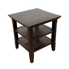 Simpli Home AXWELL3-003 Acadian End Table, Dark Espresso - ATG Stores