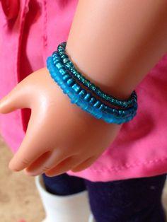 American Girl Jewelry Stacking Bead Bracelets by ADollsDelight