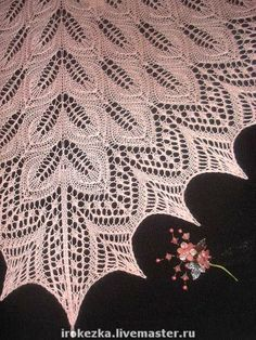 "Треугольная шаль "" Танцующие листья "": kmgjhf — LiveJournal Lace Knitting Patterns, Needle Lace, Crochet Blouse, Knitted Shawls, Ravelry, Tatting, Needlework, Weaving, Crafty"
