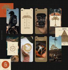 Palmera Roasters on Behance Coffee Shop Branding, Cafe Branding, Cali, Packaging, Publication Design, Graphic Design Branding, Adobe Illustrator, Typography, Photoshop