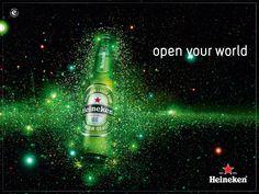 Open your world Heineken Advertising Poster, Advertising Design, Beer Quotes, Beer Brands, Beer Humor, Wine And Beer, Fun Time, Energy Drinks, Craft Beer