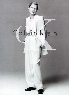 Calvin Kelin 1994 minimalist monochromatic oversized suit