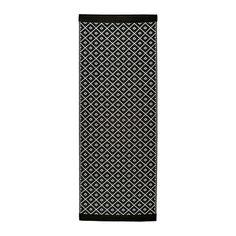 SOLRÖD Teppich flach gewebt - schwarz/weiß - IKEA