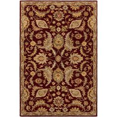 Surya Hand-Tufted Early Floral Wool Rug (4' x 6') (B