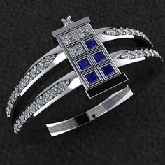 T.A.R.D.I.S. ~Engagement/Wedding Ring~ http://geektyrant.com/news/elegant-doctor-who-tardis-ring