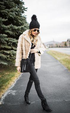vintage style faux fur