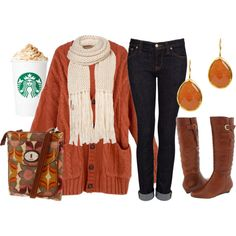 """Pumpkin Spice Latte"" by qtpiekelso on Polyvore"
