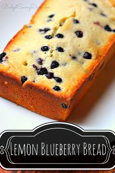 BEST Bread Ever ! Sweet and Flavorful - Easy enough for kids to make --- Recipe simple and everything most likely in your kitchen RIGHT NOW! Lemon Blueberry Bread Recipe