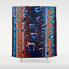 Dilution. Shower Curtain by Mary Berg - $68.00 #showercurtain #society6 #bathroom #purple #terracotta #blue #drops #design