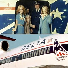 Oh say can you see ... Back in 1976, the Delta logo proudly donned the stars and stripes in honor of the U.S. Bicentennial. #ThrowbackThursday #TBT