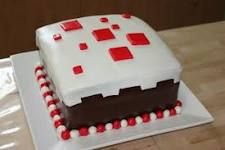 Minecraft cake red and white