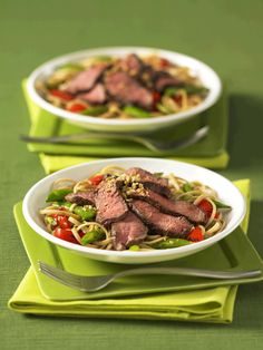 Szechwan Beef Recipe by Canadian Beef Sauce Hoisin, Sweet Red Pepper, Sesame Noodles, Five Spice Powder, Duck Sauce, Grilled Beef, Sugar Snap Peas, Roasted Peanuts, How To Grill Steak