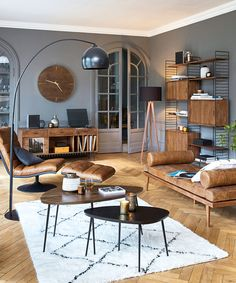 Solid Acacia Record Cabinet Gimmick on Maisons du Monde. Take your pick from our furniture and accessories and be inspired! Teen Furniture, Hallway Furniture, Modern Industrial Decor, Deco Studio, Sala Grande, Record Cabinet, Living Room Decor Colors, Cozy Apartment, Interior Decorating