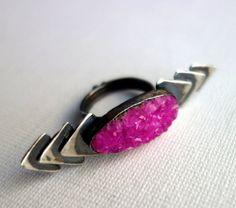 Handmade Cobalto Calcite Ring by RachelPfefferDesigns on Etsy