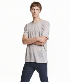 T-shirt | Gray melange | Men | H&M US
