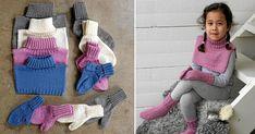 Sockor, vantar och krage – vinterns smartaste basmönster   Land.se Crochet Baby, Knit Crochet, Easy Yarn Crafts, Baby Barn, Textiles, Knitted Animals, Baby Knitting Patterns, Leg Warmers, Mittens