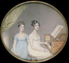 Miss Harriet and Miss Elizabeth Binney, Smart, John, Watercolour on card. Given by Miss Joan Gwladis Trevor, a descendant of Harriet Binney
