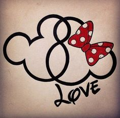 Disney Mickey & Minnie head tatoo- I like the infinity symbol hidden in the heads Mickey Tattoo, Tattoo Disney, Mickey And Minnie Tattoos, Disney Tattoo Quotes, Disney Tattoos Small, Disney Amor, Disney Love, Disney Family, Disney Mickey Mouse
