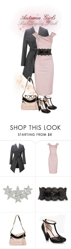 """Autumn Girls Bubblegum Pink"" by juliet-jones-the-style-hunter ❤ liked on Polyvore featuring Design Lab, Alaïa, Chloé and Bettie Page"