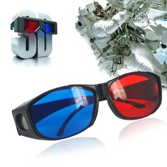 Hot sale 1Pcs Plastic Glasses Red Blue Red-blue glasses Cyan 3D Myopia & General VISION Game Stereo Movies Dimensional Anaglyph #Affiliate