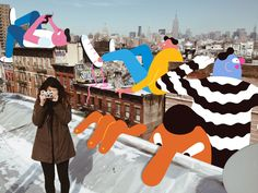 Artist and illustrator, Brolga, shares a bit about his journey to New York and figuring out where he needed to be. Photography Illustration, Photo Illustration, Graphic Design Illustration, Doodle On Photo, Alphabet City, Foto Instagram, Photo Projects, Art Projects, New York