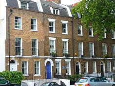 Georgian Terrace Houses exteriors Lambeth Road, London SE1