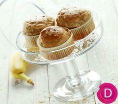 Muffins με νιφάδες βρώμης και μπανάνες | Dina Nikolaou